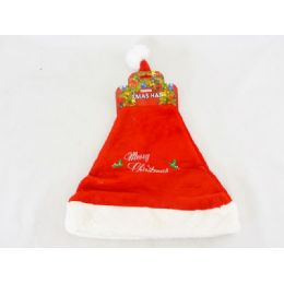 72 Units of Xms Hat 28x38cm Red Color - Christmas Novelties