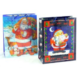 144 Units of Christmas Hologram Gift Bag - Christmas Gift Bags and Boxes