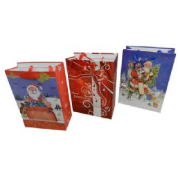 144 Units of Christmas Large Size Gift Bag - Christmas Gift Bags and Boxes