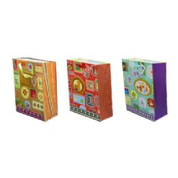 96 Units of Bag Xxl Xms 3d 45x32x10 3asst Design - Christmas Gift Bags and Boxes