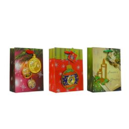 96 Units of Bag Xl Xms 3d 38.5x30x13 3asst Design - Christmas Gift Bags and Boxes
