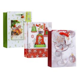 108 Units of Christmas Large Size Gift Bag - Christmas Gift Bags and Boxes