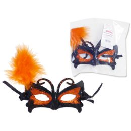 288 Units of Halloween Mask With Glitter - Costumes & Accessories