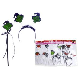 144 Units of Halloween Witch Hair Band - Costumes & Accessories