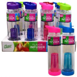 24 Units of Infuser Bottle 26oz Straw - Sport Water Bottles