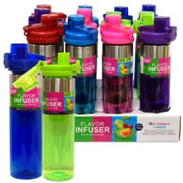 24 Units of Infuser Bottle 26oz Flip Top - Sport Water Bottles