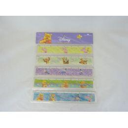 72 Units of Lic Ruler 20cm 5pcs Winnie - Licensed School Supplies