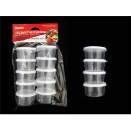 48 Units of 10pc Round Multipurpose Containers - Storage Holders and Organizers