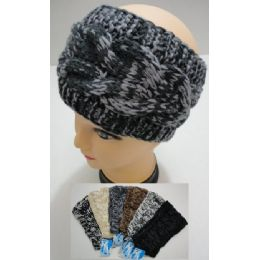 12 Units of Hand Knitted Ear Band [variegated] Loop - Ear Warmers
