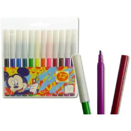 96 Units of Discontinue*marker 12pcsmickey - Licensed School Supplies