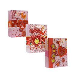 108 Units of Valentine Medium Size Assorted Gift Bag - Valentine Gift Bag's