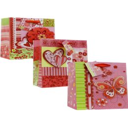 72 Units of Valentine Assorted Print Gift Bag - Valentine Gift Bag's
