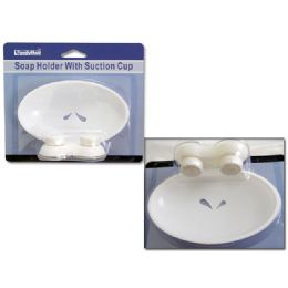 72 Units of SOAP HOLDER W/SUCTION CUP - Soap Dishes & Soap Dispensers