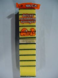 40 Units of 12 Piece Deluxe Scrubbing Sponges - Cleaning Products