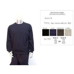 12 Units of Mens Sweat Shirt 90% Poly Cotton 10% Cotton Assorted - Mens Sweat Shirt