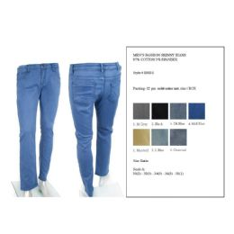 12 Units of Mens Fashion Skinny Jeans 97% Cotton 3% Spandex - Mens Jeans
