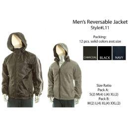 12 Units of Mens Reversible Jacket - Mens Jackets