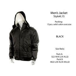 12 Units of Mens Fashion Winter Jacket - Men's Winter Jackets