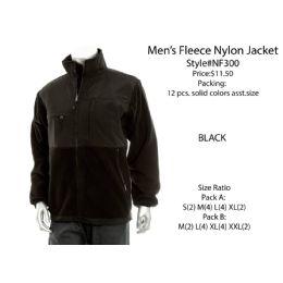 12 Units of Mens Fleece Nylon Jacket - Mens Jackets
