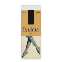 120 Units of Comfort Top Isadora Sheer Knee High Solid Black - Womens Knee Highs