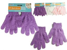 144 Units of Bath Gloves 2 Pieces - Bath And Body
