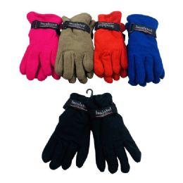 36 Units of Kids Fleece Gloves - Kids Winter Gloves