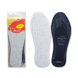144 Units of 2 Pairs AntI Odor Insoles - Footwear Accessories