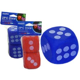 "96 Units of Dice Eva 2pc 2.5x2.5""red, Blue Clr - Playing Cards, Dice & Poker"