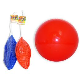 "96 Units of INFLATABLE BALL SOLID CLR9.8"" DIA 65G - Balls"