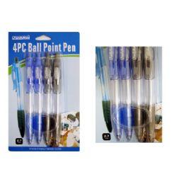 108 Units of BALL POINT PEN 4PC 0.7MM 2ASST - PENS