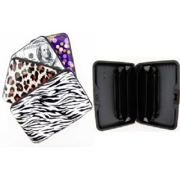 72 Units of Card Caddy Card Holder Assorted Prints - Card Holders and Address Books