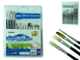 144 Units of Artist Paintbrushes 15 Piece Set - Paint, Brushes & Finger Paint