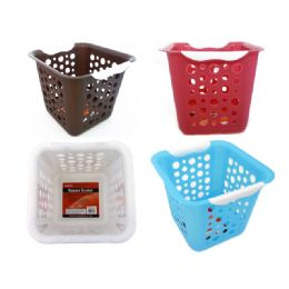 96 Units of Baskets Assorted Colors - Laundry  Supplies
