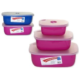 48 Units of 3 Piece Food Storage Container - Storage Holders and Organizers