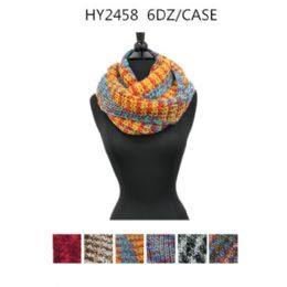 72 Units of Ladies Fashion Winter Scarves Assorted Design - Winter Scarves