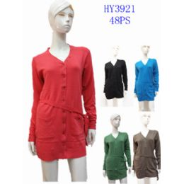 24 Units of Ladies Fashion Long Sweater Dress - Womens Sweaters & Cardigan