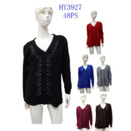 24 Units of Ladies Button Down Winter Sweater - Womens Sweaters & Cardigan