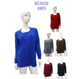 24 Units of Ladies Solid Cardigan - Womens Sweaters & Cardigan
