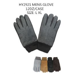 72 Units of Mens Winter Gloves - Knitted Stretch Gloves