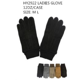 72 Units of Ladies Winter Gloves - Knitted Stretch Gloves