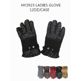 72 Units of Ladies Fashion Winter Gloves - Knitted Stretch Gloves