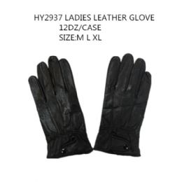 72 Units of Ladies Leather Winter Gloves - Leather Gloves