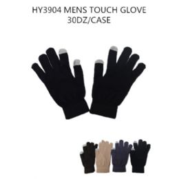72 Units of Mens Touch Screen Gloves - Conductive Texting Gloves
