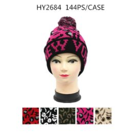72 Units of Ladies Printed Nyc Winter Hat - Winter Hats