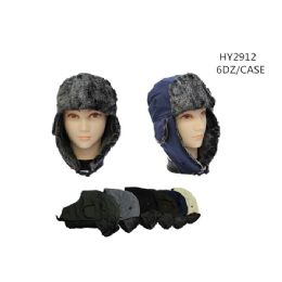 72 Units of Winter Trapper Hats Assorted Colors - Winter Hats