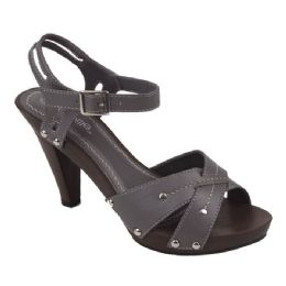 18 Units of Ladies Fashion Heels in GRAY - Women's Heels & Wedges