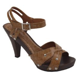 18 Units of Ladies Fashion Heels in CAMEL - Women's Heels & Wedges