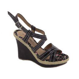 12 Units of Ladies Fashion Heels Pretty Design In BLACK - Women's Heels & Wedges