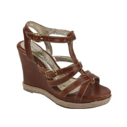12 Units of Ladies' Fashion Wedges In Camel - Women's Heels & Wedges