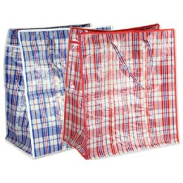 96 Units of Plaid Shopping Bag - Bags Of All Types